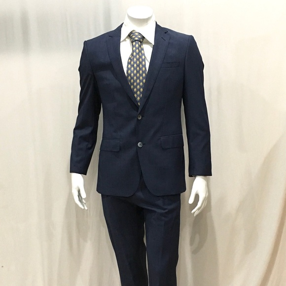 f5134be6c Hugo Boss Suits & Blazers | Mens Blue Textured 2 Button Suit | Poshmark